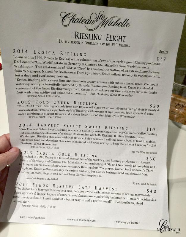 Riesling-tasting
