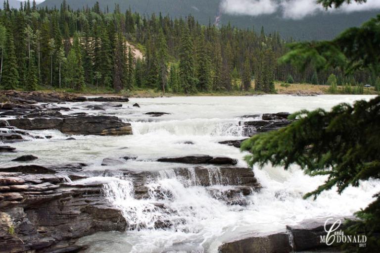Athabasca Falls on a rainy day 5
