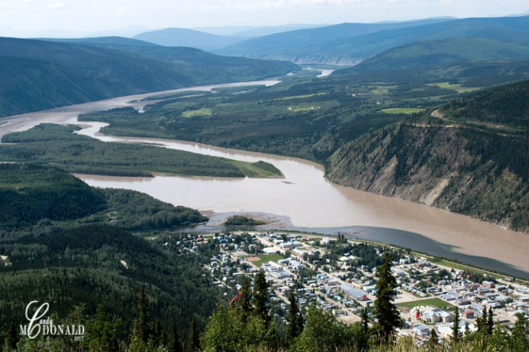 View of Dawson City and Yukon from Midnight Dome