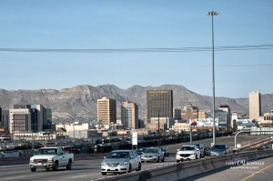 El Paso, TX as seen from westbound lanes of I-10