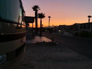 Sunset views from Desert Hot Springs, CA