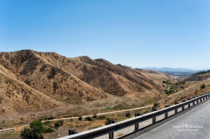 Looking back to LA basin from Tejon Pass as seen from I-5 north.