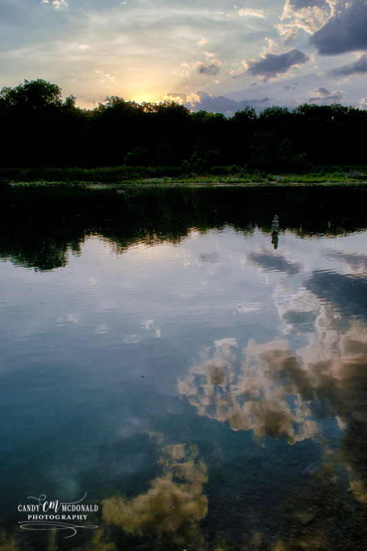 Sunset reflections on the South Llano River