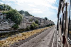 Passing through limestone walls on I-10
