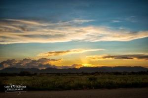Desert sunset in Willcox, AZ